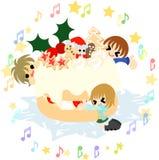 Weihnachtskuchen. Lizenzfreie Stockfotos