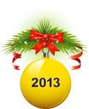 Weihnachtskugel 2013 Stockfoto