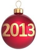 Weihnachtskugel 2013 Flitter neuen Jahres Stockbilder