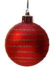 Weihnachtskugel, Ausschnittspfad Lizenzfreie Stockfotos