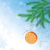 Weihnachtskugel in der Form der Orange Stockfoto