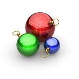 Weihnachtskugel gebildet in 3D Lizenzfreies Stockbild