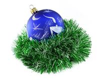 Weihnachtskugel handgemalt Lizenzfreie Stockfotos