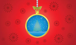 Weihnachtskugel-Hintergrundvektor Vektor Abbildung