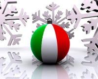 Weihnachtskugel mit Markierungsfahne - 3D Lizenzfreie Stockfotografie