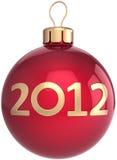 Weihnachtskugel neuer 2012-Jahr-Flitter Lizenzfreies Stockfoto