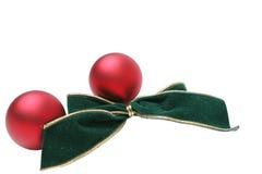 Weihnachtskugel-Verzierungen stockbilder