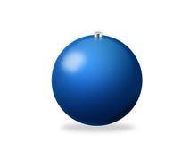 Weihnachtskugelblau Stockfotografie