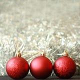 Weihnachtskugeldekorationen Stockfoto