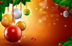 Weihnachtskugelkarte Lizenzfreies Stockfoto