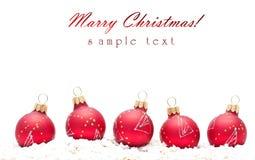 Weihnachtskugeln Stockbild