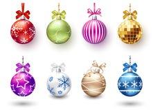 Weihnachtskugeln eingestellt Stockbilder