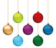 Weihnachtskugeln eingestellt Stockfotos