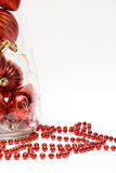 Weihnachtskugeln im Vase Stockbild