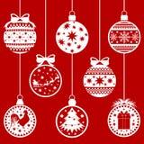 Weihnachtskugeln rot Lizenzfreie Stockfotos