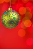 Weihnachtskugeln und -leuchten Lizenzfreies Stockbild