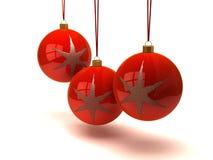 Weihnachtskugeln und -verzierungen Stockbilder