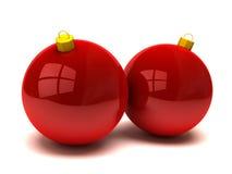 Weihnachtskugeln und -verzierungen Stockbild