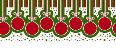 Weihnachtskugelrand Stockbild