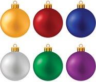 Weihnachtskugelset Stockfotografie