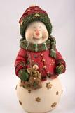 Weihnachtslächelnder Schneemann lizenzfreie stockbilder