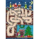 Weihnachtslabyrinthspiel Lizenzfreie Stockbilder
