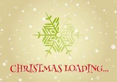 Weihnachtslader von der Schneeflocke Stockfotos