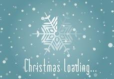Weihnachtslader von der Schneeflocke Lizenzfreie Stockfotos