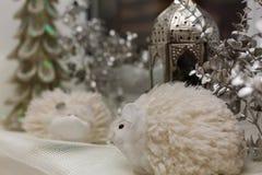 Weihnachtslampelaternendekoration Lizenzfreie Stockbilder