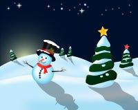 Weihnachtslandschaft Stockbild