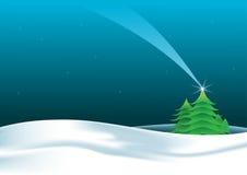 Weihnachtslandschaftsnacht Lizenzfreie Stockfotografie