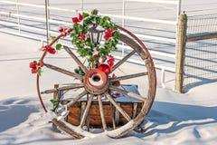 Weihnachtslastwagen-Rad Lizenzfreie Stockfotos