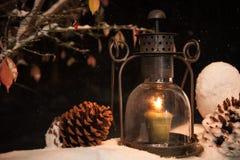 Weihnachtslaterne Stockbild