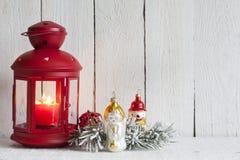 Weihnachtslaternen-Zusammenfassungshintergrund Lizenzfreie Stockfotos