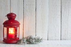 Weihnachtslaternen-Zusammenfassungshintergrund Stockfoto