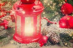 Weihnachtslaternenabschluß oben Lizenzfreie Stockbilder
