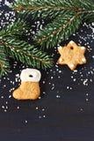 Weihnachtslebkuchen. lizenzfreie stockbilder