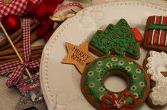 Weihnachtslebkuchen Stockfotografie