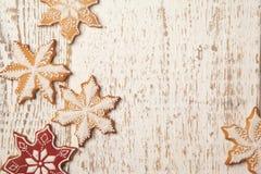 Weihnachtslebkuchen-Plätzchen-Grenze Lizenzfreies Stockbild