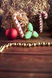 Weihnachtslebkuchenkarte Lizenzfreie Stockfotos