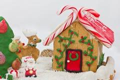 Weihnachtslebkuchenlandschaft Lizenzfreie Stockbilder