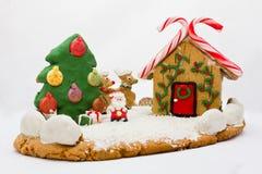 Weihnachtslebkuchenlandschaft Lizenzfreies Stockbild