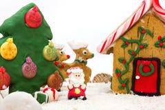 Weihnachtslebkuchenlandschaft Lizenzfreie Stockfotografie