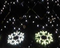 Weihnachtsleuchte-abstrakter Hintergrund Lizenzfreie Stockbilder