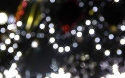 Weihnachtsleuchte-abstrakter Hintergrund Stockbild