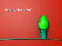 Weihnachtsleuchte-glücklicher Feiertag Lizenzfreie Stockfotos