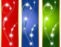 Weihnachtsleuchte-Hintergrund-Ränder Stockbilder