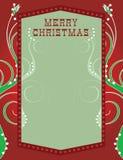 Weihnachtsleuchte-Schablone Stockbild