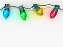 Weihnachtsleuchte-Zeichenkette Stockfotos