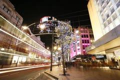 Weihnachtsleuchten 2012 auf London-Straße Stockbild